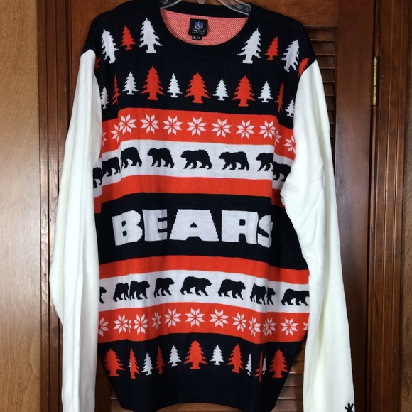 Nfl Sweaters Chicago Bears Christmas Sweater Football Nwt Poshmark